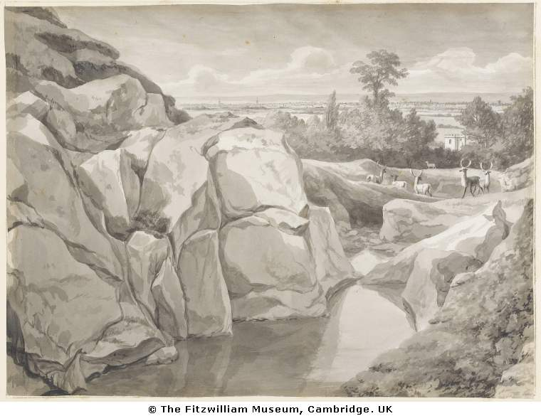 The rocks in the Deerpark, still visible today.