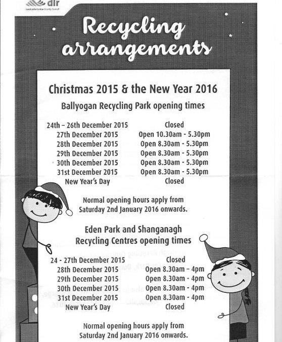 DLR Recycling arrangements Christmas 2015