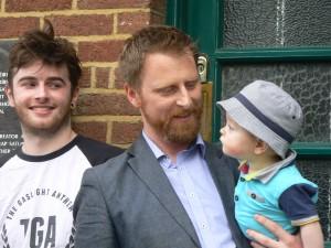 Ben, Don and Dermot Morgan