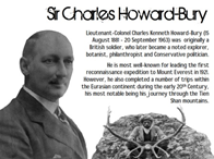 Sir Charles Howard Bury