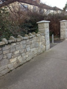 Repaired entrance to Deerpark from Glenabbey Road