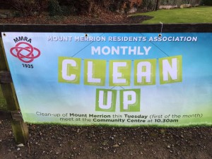 Mount Merrion Monthly Cleanup Banner