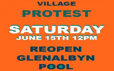 Reopen Glenalbyn Pool Protest 12pm Saturday 15th
