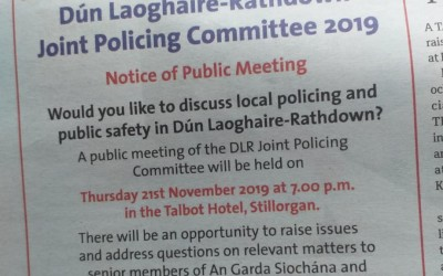 Joint Policing Committee Public Meeting – November 21st 7pm