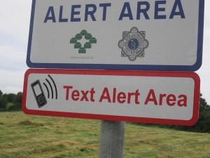 Text Alert Area