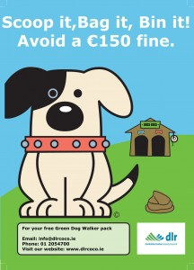 Green Dog Walkers Poster