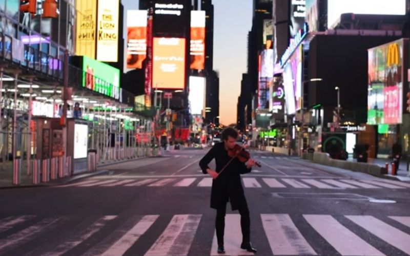 Gregory Harrington You Tube - Playing violin in New York during Covid-19 pandemic