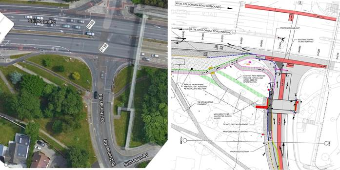 N11 The Rise Junction - Existing Layout