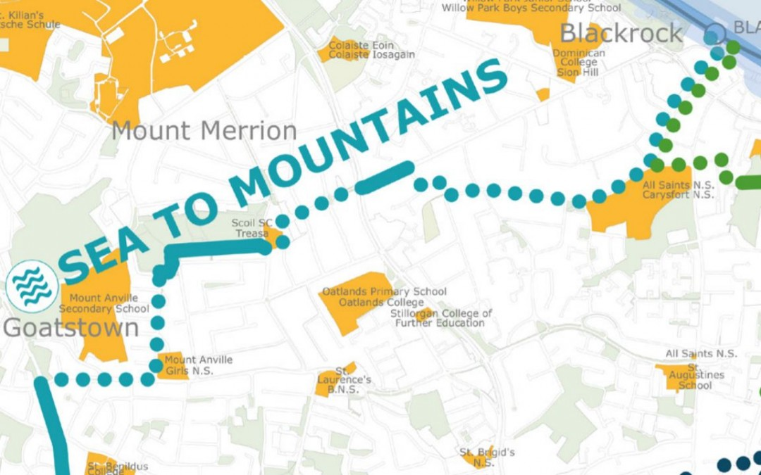 Proposed new cycle way through Mount Merrion