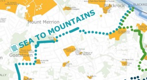 Proposed Cycle Route through Mount Merrion - dlr Sea to Mountains