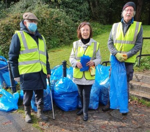 MMRA October Litter Cleanup - 9 Bags of rubbish!
