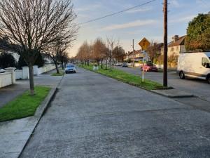 Cedarmount Road - leaf sweep clean