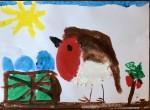"""""""Robin"""" by Aoibheann Cronin (age 7)."""