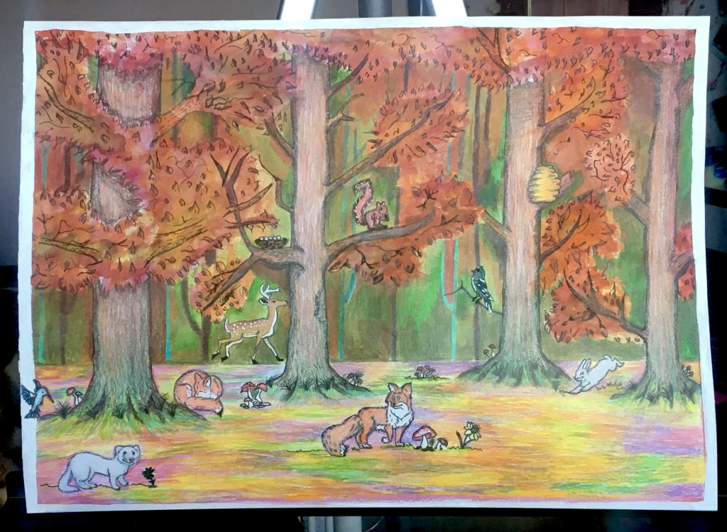 'Deerpark in the Autumn' by Carmen Walsh, age 16