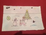 """Boy & Snowman chat in Deerpark"" by Cillian Hayes (age 15)"