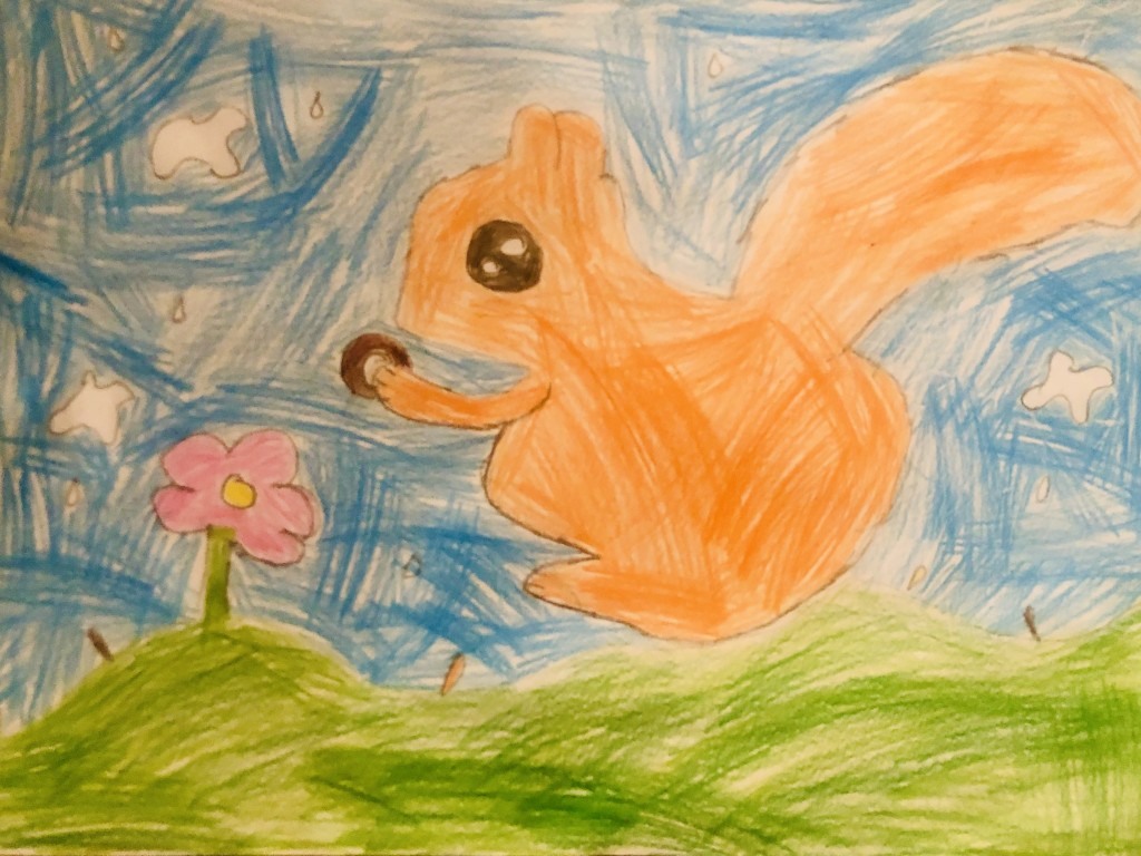 """The Squirrel"" by Isabel Roche (age 6)"
