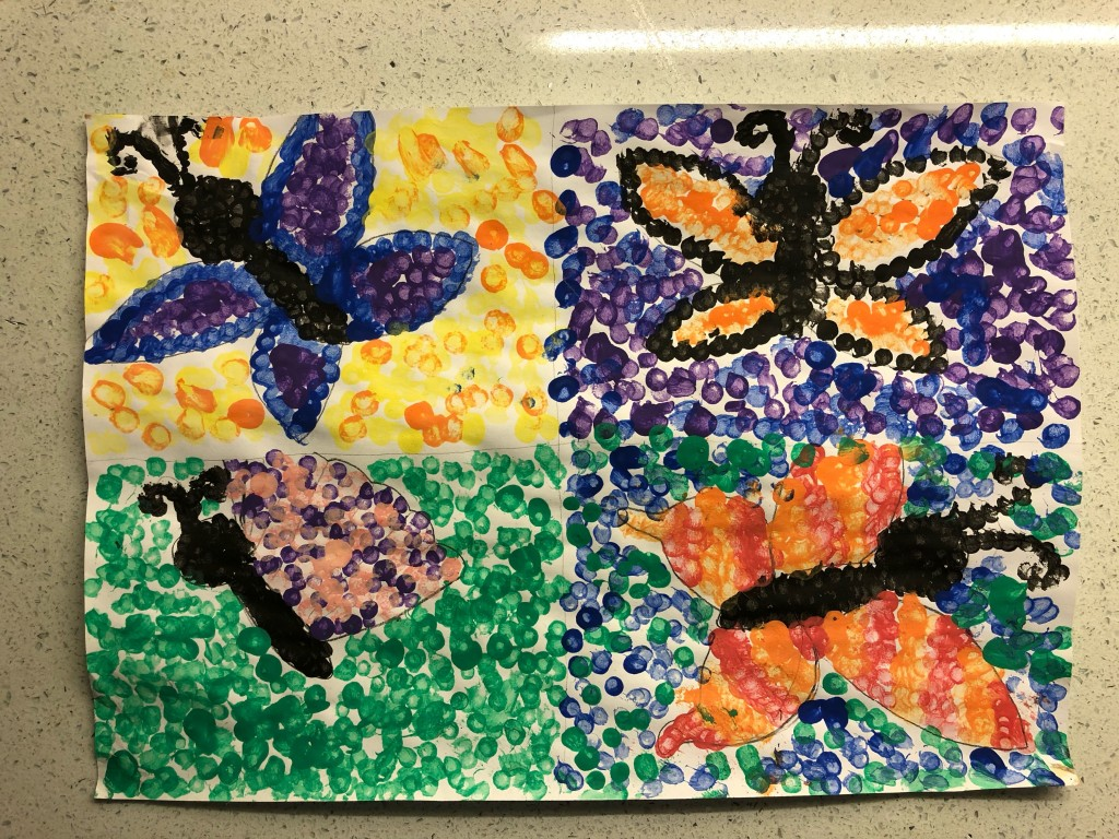 """My Garden Butterflies"" by Julia Maguire (Age 10)"