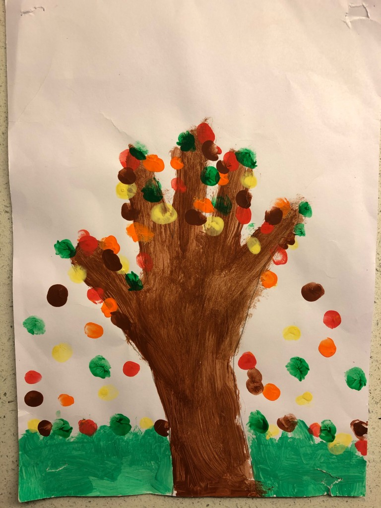 """A Handful of Leaves"" by Kristine Maguire (age 7)"