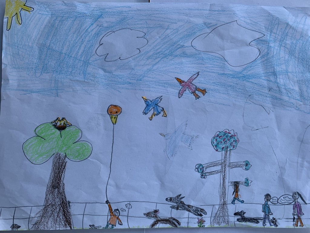 """Fun in Deerpark"" by Nessa McDonnell (age 7)"