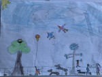 """""""Fun in Deerpark"""" by Nessa McDonnell (age 7)"""