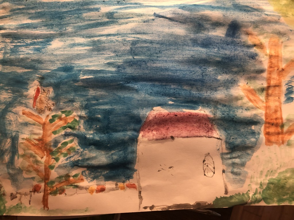 """Squirrel in a Tree at Deerpark"" by Peter Daly (age 7)"