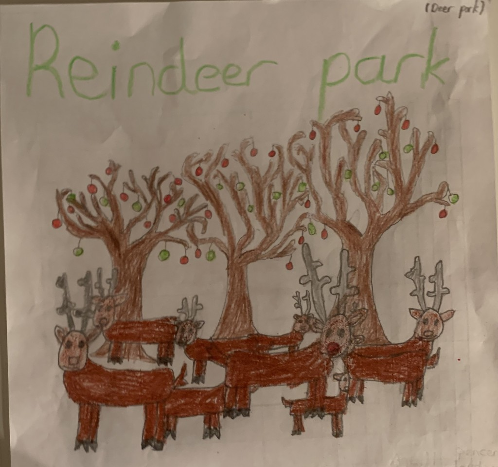 """Reindeer Park"" by Spencer Jordan (age 11)."