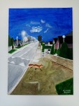 Deerpark Road Fox under moonlight on Deerpark Road, by Eileen Quinn