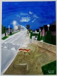 Fox under moonlight on Deerpark Road, by Eileen Quinn, over 65 category