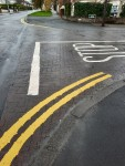 New double yellow lines at junction The Rise/Trees Road Lower