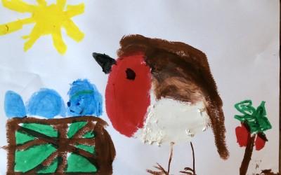 'Robin' by Aoibheann Cronin (age 7).