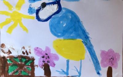 'Blue Tit' by Aoibheann Cronin (age 7)