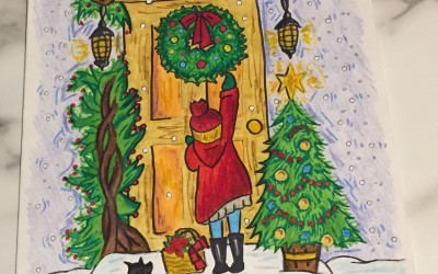 'Christmas scene' by Aoife Gillen (age 13)