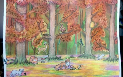 'Deerpark in the Autumn' by Carmen Walsh (age 16)