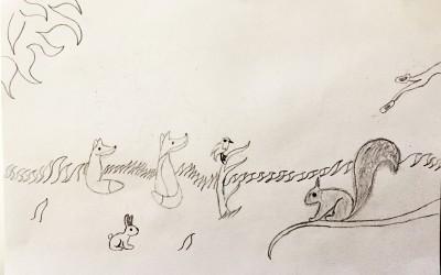 'Winter Animals' by Erica Brady (age 11)