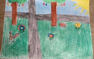 'Spring is in the Air' by Hope Jordan (age 8)