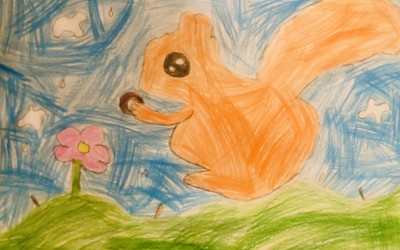 'The Squirrel' by Isabel Roche (age 6)