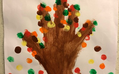 'A Handful of Leaves' by Kristine Maguire (age 7)