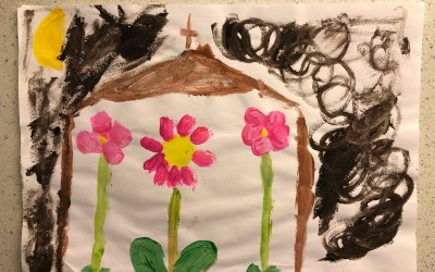 'Church St Therese Rose Flower Window' by Kristine Maguire (age 7)