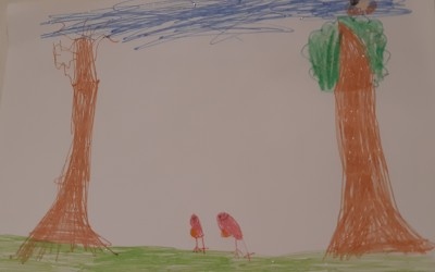 'Winter's Robin' by Luca Gray (age 7)