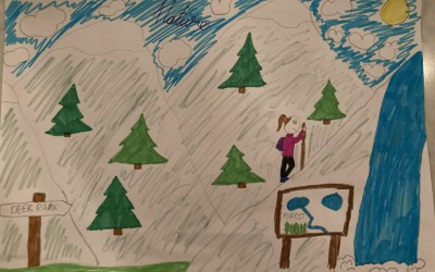 'Hiking in High Spirits' by Robin Jolley (age 9)