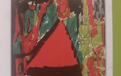 'Abstract Christmas...Colour and Life' Nollaig Shona...Dathanna Gleoite by Connell Gallagher (age 12)