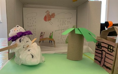 'Our Winter Garden' by Madeleine Browne (age 8)