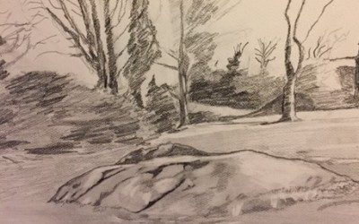 'Path to Deerpark Tennis Club' by Vincent McArdle (76 yrs)