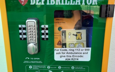 Defibrillator in The Rise Car Park